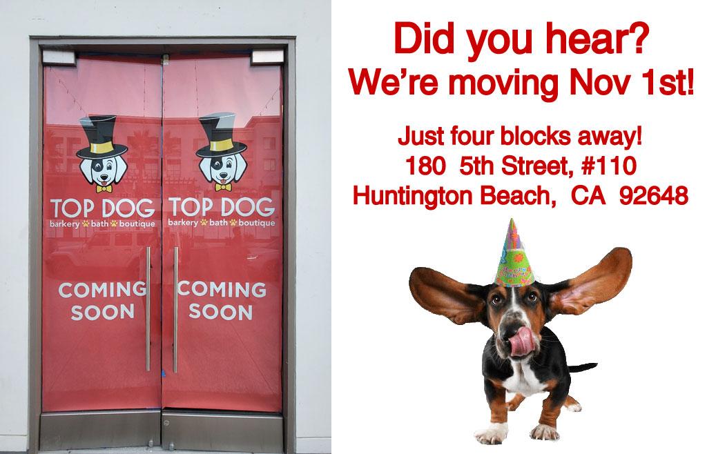 Did you hear? We're moving November 1st! Just 4 blocks away to 180 5th Street, #110 Huntington Beach, CA 92648